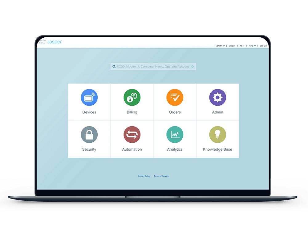 Cisco jasper portal screenshot Weconnect IoT management