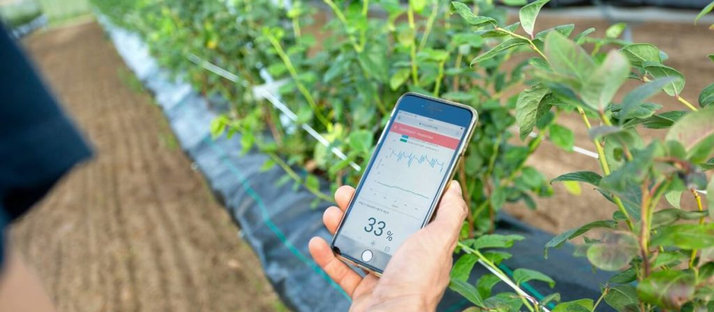 IoT mobile dashboard for farming smart solutions iphone