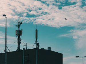5G tower in the city