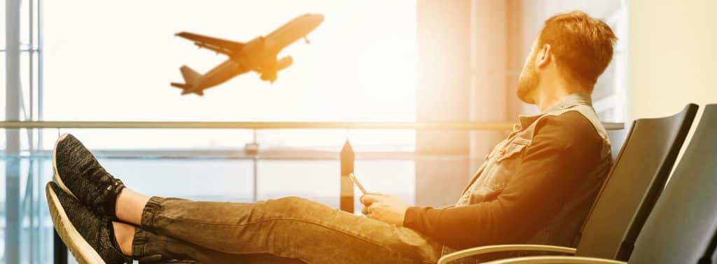 business travel sim phone at airport
